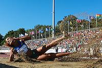 TORONTO, CANADÁ, 21.07.2015 - PAN-ATLETISMO - Brasileira Keila Costa durante disputa do salto tripo do atletismo nos jogos Panamericanos na cidade de Toronto no Canadá, nesta terça-feira, 21 (Foto: Vanessa Carvalho/Brazil Photo Press)