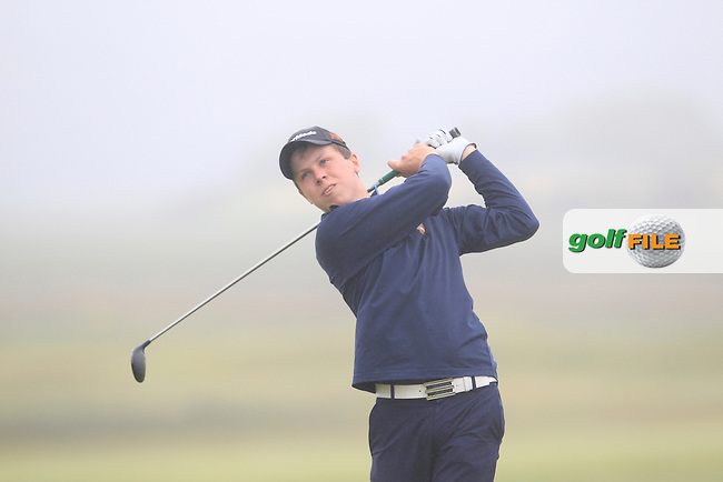 Mark MacGrath (Limerick) on the 6th tee during Matchplay Semi Final of the South of Ireland Amateur Open Championship at LaHinch Golf Club on Sunday 26th July 2015.<br /> Picture:  Golffile | TJ Caffrey