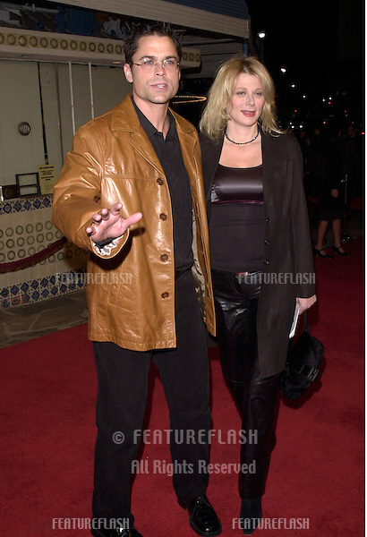"12DEC99:  Actor ROB LOWE & wife SHERYL at the Los Angeles premiere of ""The Talented Mr. Ripley."".© Paul Smith / Featureflash"