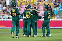 Notts Outlaws' Harry Gurney celebrates with his teammates after taking a wicket<br /> <br /> Photographer Andrew Kearns/CameraSport<br /> <br /> NatWest T20 Blast Semi-Final - Hampshire v Notts Outlaws - Saturday 2nd September 2017 - Edgbaston, Birmingham<br /> <br /> World Copyright &copy; 2017 CameraSport. All rights reserved. 43 Linden Ave. Countesthorpe. Leicester. England. LE8 5PG - Tel: +44 (0) 116 277 4147 - admin@camerasport.com - www.camerasport.com