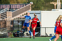 Boston, MA - Sunday September 10, 2017: Natasha Dowie and Katherine Reynolds during a regular season National Women's Soccer League (NWSL) match between the Boston Breakers and Portland Thorns FC at Jordan Field.