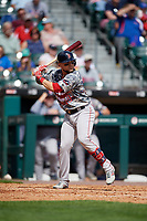 Boston Red Sox Michael Chavis (19), on rehab assignment with the Pawtucket Red Sox, at bat during an International League game against the Buffalo Bisons on August 25, 2019 at Sahlen Field in Buffalo, New York.  Buffalo defeated Pawtucket 5-4 in 11 innings.  (Mike Janes/Four Seam Images)