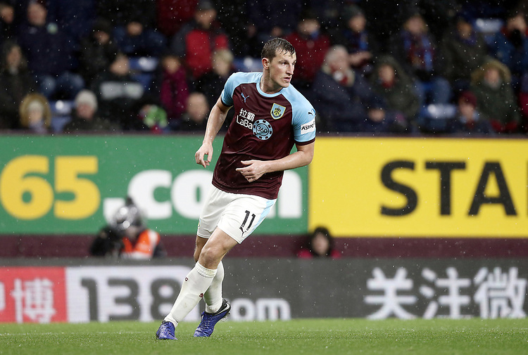 Burnley's Chris Wood<br /> <br /> Photographer Rich Linley/CameraSport<br /> <br /> The Premier League - Burnley v Brighton and Hove Albion - Saturday 8th December 2018 - Turf Moor - Burnley<br /> <br /> World Copyright © 2018 CameraSport. All rights reserved. 43 Linden Ave. Countesthorpe. Leicester. England. LE8 5PG - Tel: +44 (0) 116 277 4147 - admin@camerasport.com - www.camerasport.com