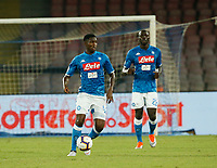 Amadou Diawara  during the  italian serie a soccer match,  SSC Napoli - Milan      at  the San  Paolo   stadium in Naples  Italy , August 25, 2018