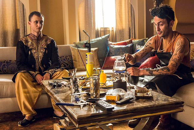 Joseph Gilgun as Cassidy and Tom Brooke as Fiore in Preacher, Season 2, Episode 2 - Photo Credit: Skip Bolen/AMC/Sony Pictures Television