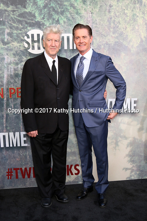 "LOS ANGELES - MAY 19:  David Lynch, Kyle MacLachlan at the ""Twin Peaks"" Premiere Screening at The Theater at Ace Hotel on May 19, 2017 in Los Angeles, CA"