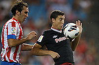27.08.2012 SPAIN -  La Liga 12/13 Matchday 2th  match played between Atletico de Madrid vs Athletic Club de Bilbao (4-0) with hat-trick Radamel Falcao at Vicente Calderon stadium. The picture show Oscar de Marcos Arana (Spanish forward of Athletic)