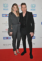 Georgia Horsley and Danny Jones at the Football For Peace Initiative Dinner by Global Gift Foundation, Corinthia Hotel, Whitehall Place, London, England, UK, on Monday 08th April 2019.<br /> CAP/CAN<br /> &copy;CAN/Capital Pictures