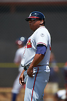 GCL Braves manager Robinson Cancel (37) during a game against the GCL Astros on July 23, 2015 at the Osceola County Stadium Complex in Kissimmee, Florida.  GCL Braves defeated GCL Astros 4-2.  (Mike Janes/Four Seam Images)