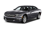 2015 Dodge Charger SE FWD 4 Door Sedan Angular Front stock photos of front three quarter view