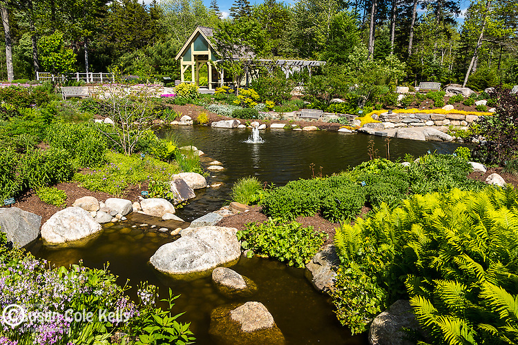 Coastal Maine Botanical Gardens in Boothbay, Maine, USA