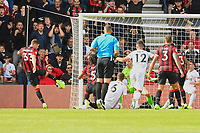 Chris Mepham of AFC Bournemouth left shoots and scores the first goal during AFC Bournemouth vs Sheffield United, Premier League Football at the Vitality Stadium on 10th August 2019