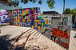 Murals Next To  Pablo Neruda House in Santiago