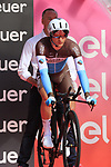 Nans Peters (FRA) AG2R La Mondiale on the start ramp of Stage 1 of the 2019 Giro d'Italia, an individual time trial running 8km from Bologna to the Sanctuary of San Luca, Bologna, Italy. 11th May 2019.<br /> Picture: Eoin Clarke | Cyclefile<br /> <br /> All photos usage must carry mandatory copyright credit (© Cyclefile | Eoin Clarke)