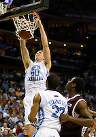 North Carolina basketball player Tyler Hansbrough during the ACC basketball Tournament  in Charlotte, NC.