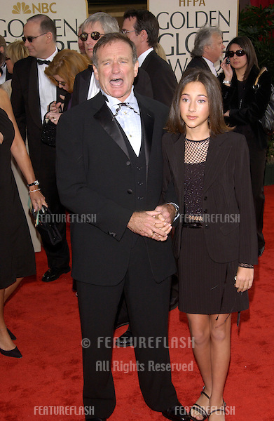 ROBIN WILLIAMS & daughter ZELDA at the Golden Globe Awards at the Beverly Hills Hilton Hotel..19JAN2003...© Paul Smith / Featureflash