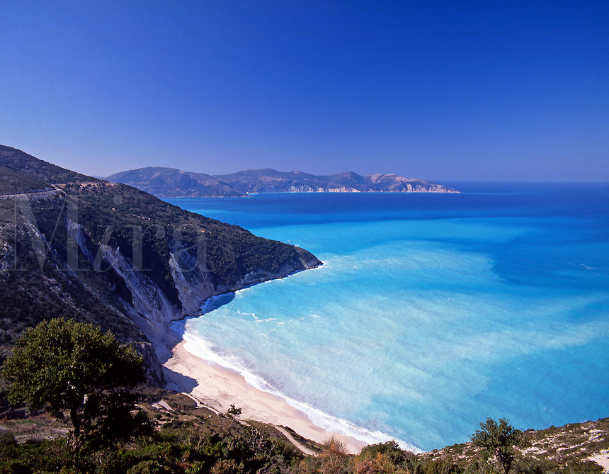 Greece. Ionian Islands. Kefallonia.  Myrtos Beach