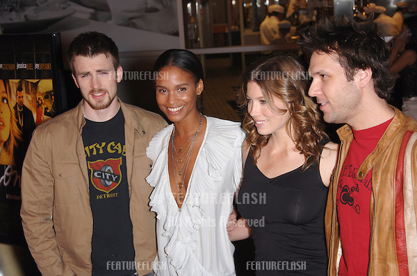 "CHRIS EVANS (left), JOY BRYANT, JESSICA BIEL & DANE COOK at the Los Angeles premiere of their new movie ""London""..February 6, 2006  Los Angeles, CA..© 2006 Paul Smith / Featureflash"