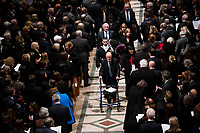 Former national security advisor Brent Scowcroft walks out behind  there casket of former president George Herbert Walker Bush down the center isle following a memorial ceremony at the National Cathedral in Washington, Wednesday,  Dec.. 5, 2018. <br /> Credit: Doug Mills / Pool via CNP / MediaPunch