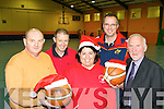 The hard working committee of St Mary's basketball club who are preparing to welcome teams from all over Ireland for the annual Christmas Blitz starting on St Stephen's Day l-r: Denny Porter, Eamon Egan, Bred Kenny, Maurice Casey and Donal O'Connor