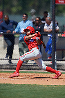 Philadelphia Phillies Grenny Cumana (12) during a Minor League Spring Training game against the Pittsburgh Pirates on March 23, 2018 at the Carpenter Complex in Clearwater, Florida.  (Mike Janes/Four Seam Images)