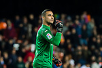 Goalkeeper Sergio Asenjo Andres of Villarreal CF celebrates after winning the La Liga 2017-18 match between Valencia CF and Villarreal CF at Estadio de Mestalla on 23 December 2017 in Valencia, Spain. Photo by Maria Jose Segovia Carmona / Power Sport Images
