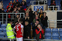 Fleetwood Town fans after the Sky Bet League 1 match between Oxford United and Fleetwood Town at the Kassam Stadium, Oxford, England on 10 April 2018. Photo by David Horn.