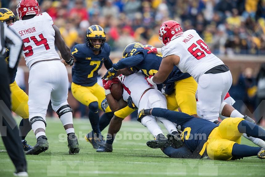 The University of Michigan football team defeats Rutgers, 35-14, at Michigan Stadium in Ann Arbor, MI. on October 28, 2017.