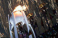 PYEONGCHANG,SOUTH KOREA,09.FEB.18 - OLYMPICS - Olympic Winter Games PyeongChang 2018, official opening ceremony. Image shows the Olympic torch. Photo: GEPA pictures/ Matic Klansek / Copyright : Explorer-media