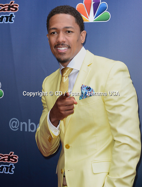 Nick Cannon at American Got Talent 2014 at the Dolby Theatre in Los Angeles.