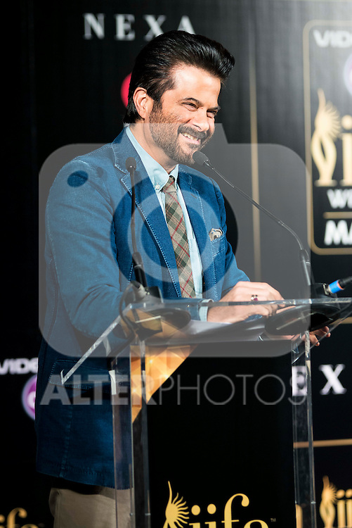 Indian actor Anil Kapoor during the presentation of the IIFA Awards in Madrid. June 23, 2016. (ALTERPHOTOS/BorjaB.Hojas)