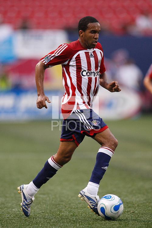 CD Chivas USA forward (11) Maykel Galindo. CD Chivas USA defeated the New York Red Bulls 2-0 in an MLS regular season match at Giants Stadium, East Rutherford, NJ, on July 26, 2007.