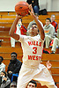 Matt Asenjo #3 of Half Hollow Hills West puts up a jumper from three point range during a varsity boys' basketball game against Archbishop Molloy at Long Island Lutheran High School on Sunday, Jan. 3, 2016. Archbishop Molloy defeated Hills West by a score of 70-56.