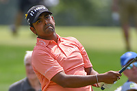Anirban Lahiri (IND) watches his tee shot on 9 during 4th round of the World Golf Championships - Bridgestone Invitational, at the Firestone Country Club, Akron, Ohio. 8/5/2018.<br /> Picture: Golffile | Ken Murray<br /> <br /> <br /> All photo usage must carry mandatory copyright credit (© Golffile | Ken Murray)