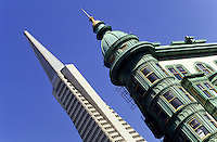 Transamerica The Pyramid skyscraper in San Francisco, California, USA