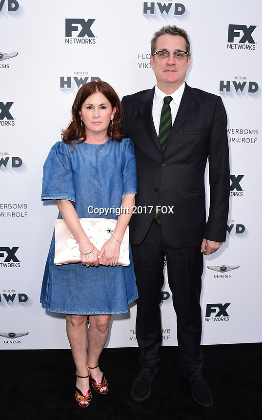 LOS ANGELES, CA - SEPTEMBER 16: Paul Simms and guest arrive at the FX Networks and Vanity Fair 2017 Primetime Emmy Nominee Celebration at Craft LA on September 16, 2017 in Los Angeles, California. (Photo by Scott Kirkland/FX/PictureGroup)