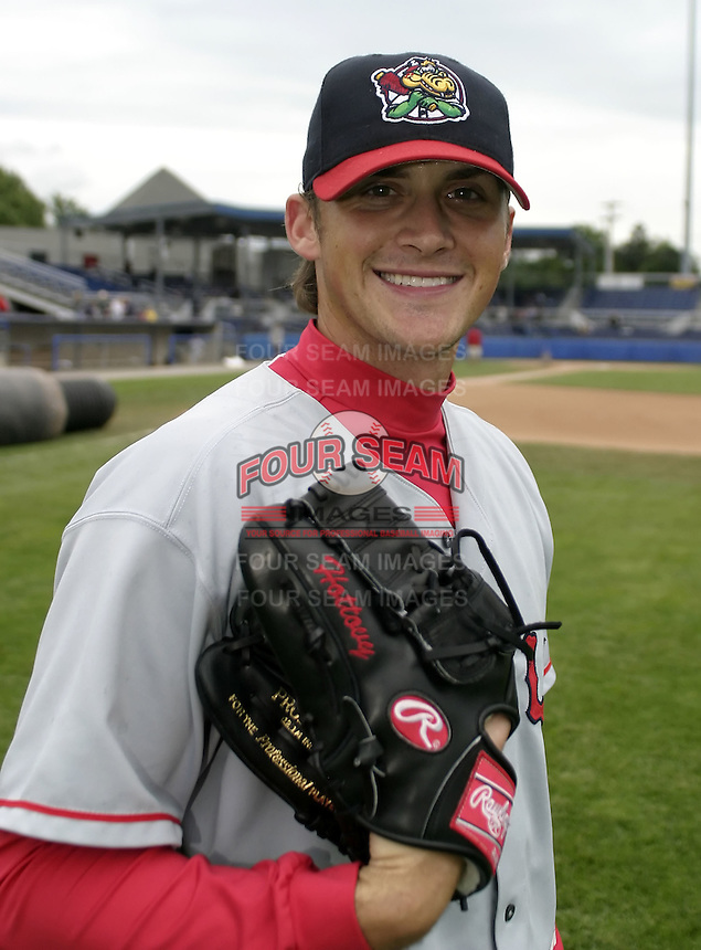 August 7, 2004:  Pitcher Tommy Hottovy of the Lowell Spinners, Single-A NY-Penn League affiliate of the Boston Red Sox, during a game at Dwyer Stadium in Batavia, NY.  Photo by:  Mike Janes/Four Seam Images