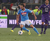 Gonzalo Higuain  during the the Italian Cup final soccer match between Napoli and  Fiorentina at the Olympic stadium in Rome May 3, 2014