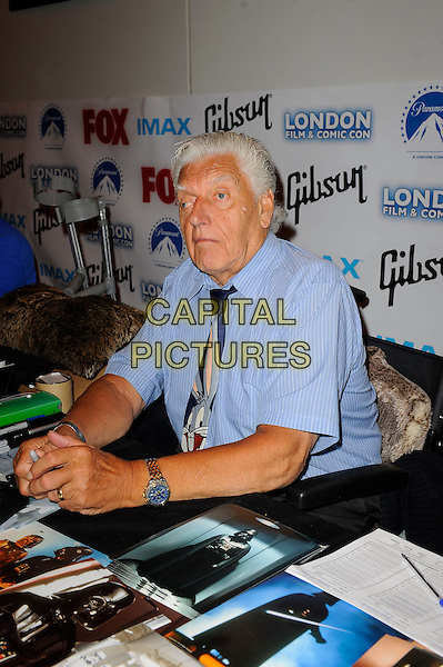 LONDON, ENGLAND - JULY 12: David Prowse attending London Film and Comic Con 2014 at Earls Court on July 12, 2014 in London, England.<br /> CAP/MAR<br /> &copy; Martin Harris/Capital Pictures
