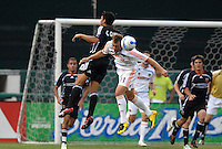 Houston Dynamo midfielder Brad Davis (11) and DC United midfielder Christian Gomez (10) go up for the header. DC United defeated Houston Dynamo 2-1, at RFK Stadium in Washington DC, Saturday, May 26, 2007.