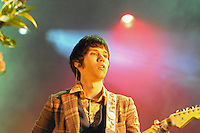 Ryan Ross, singer and guitarist with Vegas based emo rockers Panic at the Disco, performs at Bamboozle 08 at  Meadowlands NJ