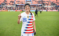 Houston, TX - Sunday April 8, 2018: Haley Hanson during an International friendly match versus the women's National teams of the United States (USA) and Mexico (MEX) at BBVA Compass Stadium.