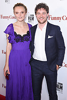 Hebe Beardsall and Tom Gibbons<br /> arriving for the London Film Festival 2017 screening of &quot;Funny Cow&quot; at the Vue West End, Leicester Square, London<br /> <br /> <br /> &copy;Ash Knotek  D3327  09/10/2017