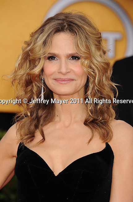 LOS ANGELES, CA - January 30: Kyra Sedgwick arrives at the 17th Annual Screen Actors Guild Awards held at The Shrine Auditorium on January 30, 2011 in Los Angeles, California.
