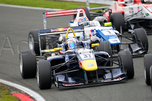 07.04.2012 Cheshire, England.  Spanish driver Carlos Sainz, Jr.in his Carlin Dallara Volkswagen in action during rounds 1, 2 & 3 of the Cooper Tires British Formula 3 International Series at Oulton Park.