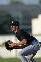 Travis Ishikawa of the San Jose Giants at first base during a 2004 season California League game against the Inland Empire 66ers at San Manuel Stadium in San Bernardino, California. (Larry Goren/Four Seam Images)