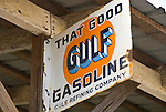 Grant Merc. Co. store, Ward, Alabanma--Gulf gas station sign.