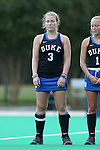 30 September 2016: Duke's Heather Morris. The Duke University Blue Devils hosted the Boston College Eagles at Jack Katz Stadium in Durham, North Carolina in a 2016 NCAA Division I Field Hockey match. Duke won the game 6-2.