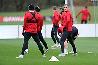 Andy King of Wales during the Wales Training Session at The Vale Resort, Hensol, Wales, UK. Monday 19 November 2018