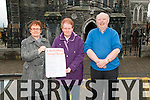 Annual Bizarre: Pictured at St. Mary's Church, Listowel to announce the annual bizarre sponsored by McCarthy's Insurance Brokers to be held in Scoil Reata Na Madna on the 5th & 6th December were Joan Moloney, Sr. Margaret & Billy Moloney.